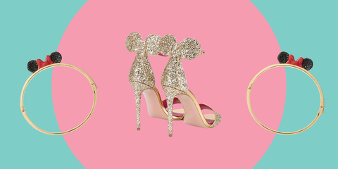 Footwear, Pink, Shoe, Illustration, Headpiece, Fashion accessory, High heels, Fawn, Ear,