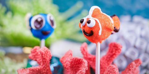 Nemo and Dory Cake Pops