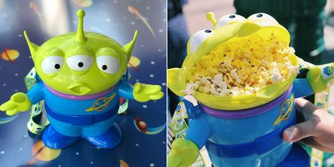 these toy story alien popcorn buckets are creating huge lines at