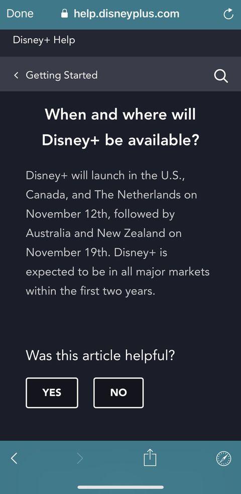 Disney+ Disponibilidad