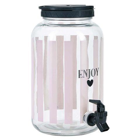 Dispensador de bebidas de cristal con grifo