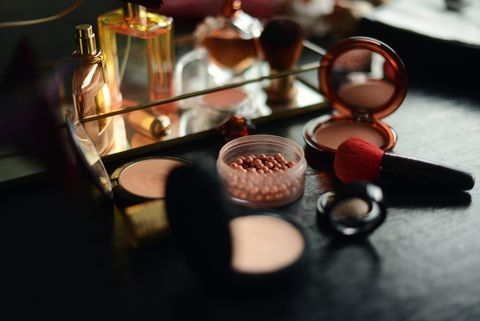 display of make up items for summer