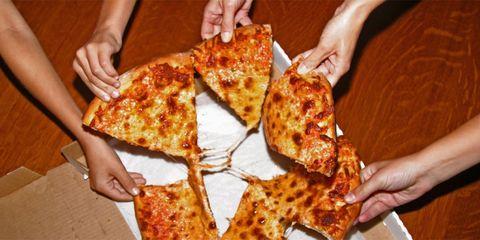 pizza opnieuw opwarmen oven magnetron