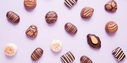 Food, Bonbon, Praline, Chocolate, Confectionery, Cuisine, Chocolate truffle, Dessert, Sweetness, Petit four,