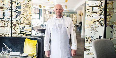 Chef, Cook, Chef's uniform, Workwear, Room, Uniform, Interior design,