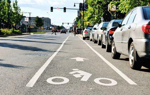 A bike lane.