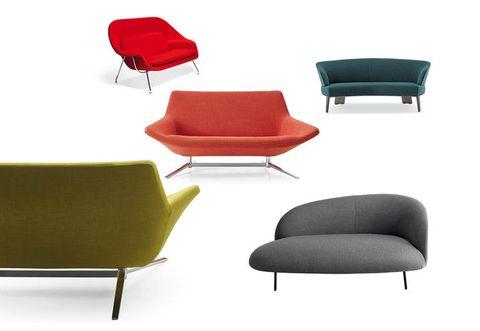 Furniture, Comfort, Red, Black, Hardwood, Armrest, Material property, Design, Club chair, Futon pad,