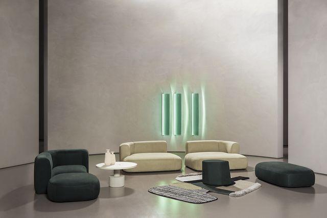 divano clara, baxter worldwide 2021, salone del mobile