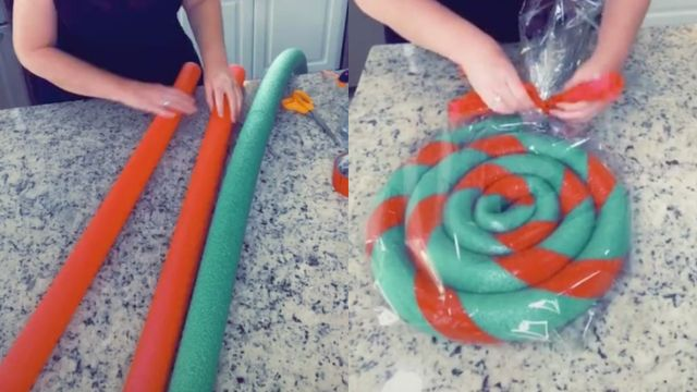 How To Diy Decorative Christmas Lollipops Using Pool Noodles