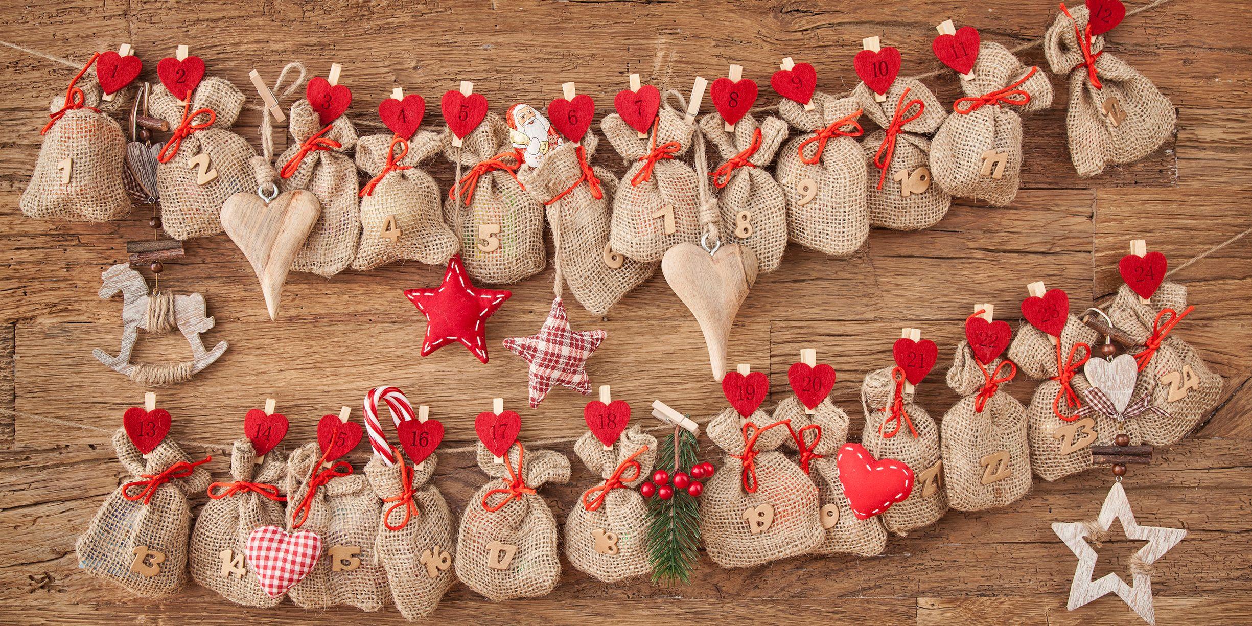 40 Diy Advent Calendar Ideas Homemade Christmas Advent Calendars