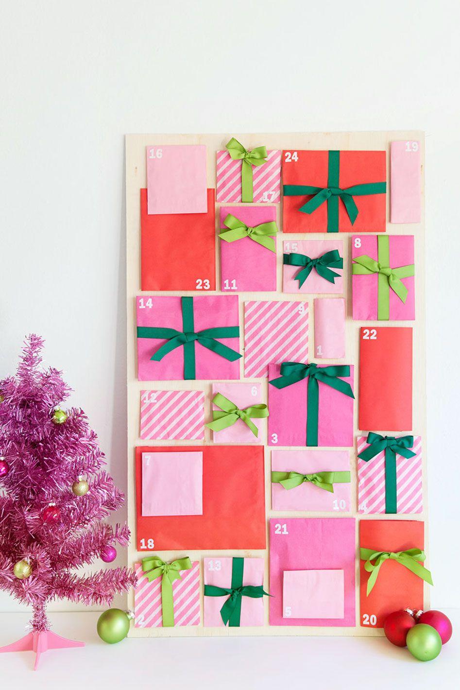 diy advent calendar paper bag