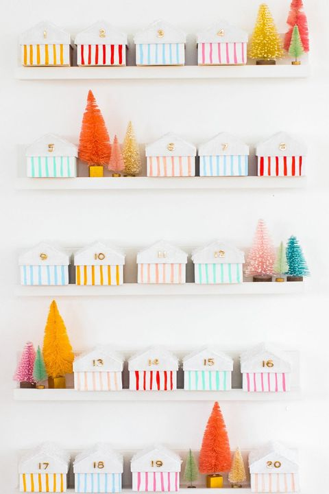diy advent calendars houses