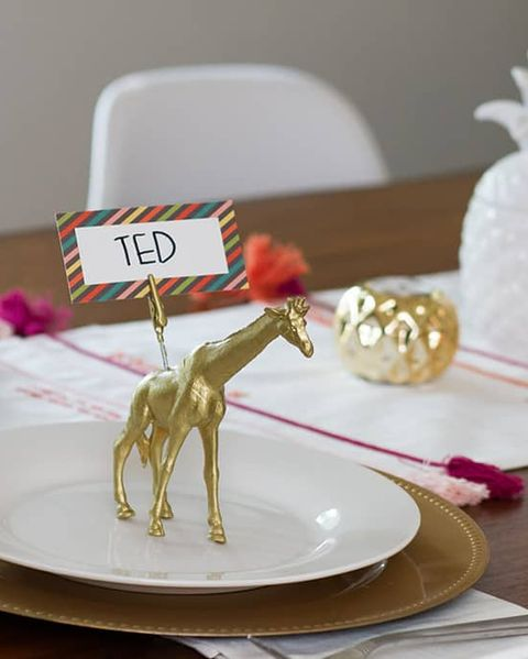 diy animal place card holders engagement party ideas