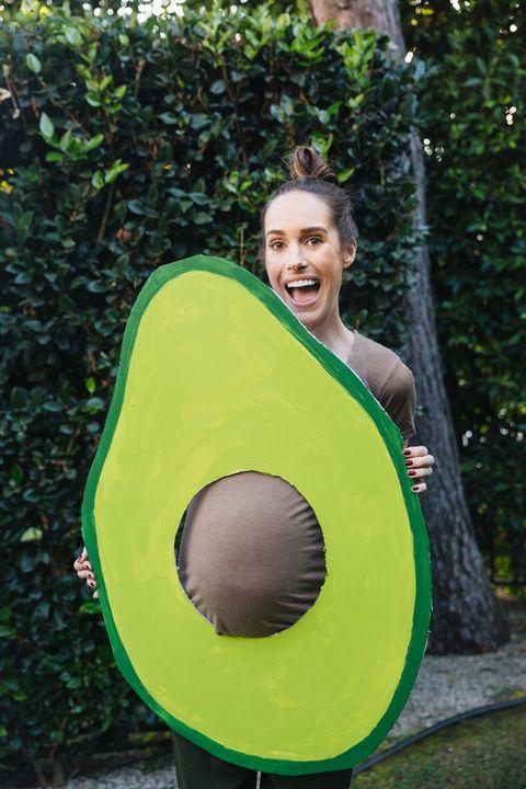 diy avocado costume pregnant halloween costumes