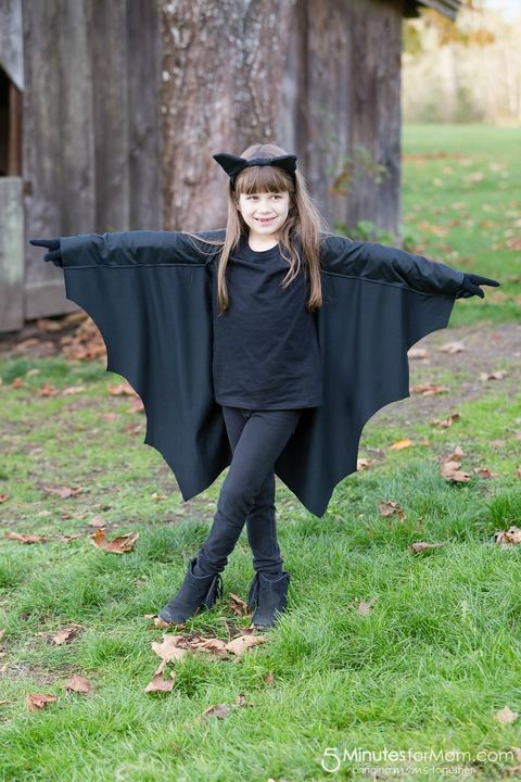 black bat halloween costume