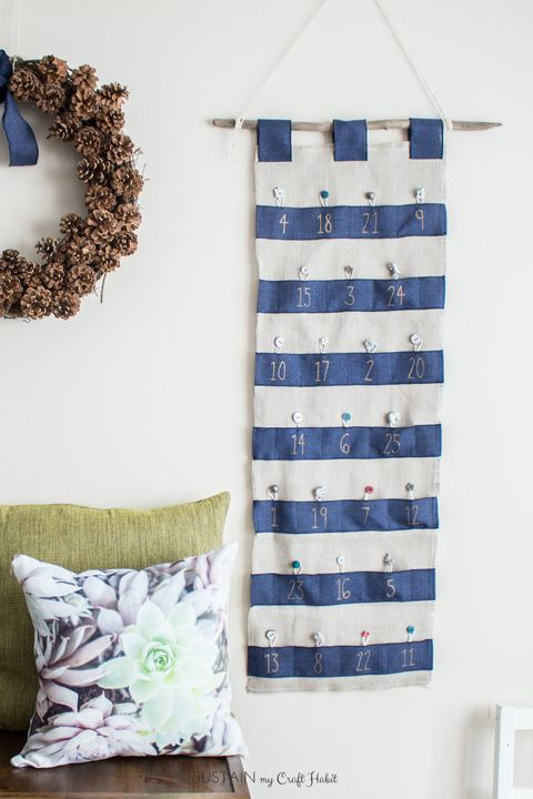 blue christmas decor ideas advent calendar