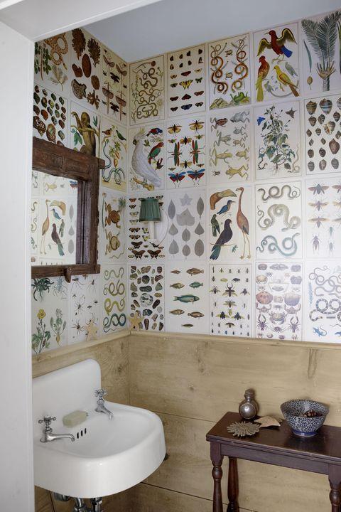 28 Bathroom Wallpaper Ideas Best, Bathroom Wallpaper Patterns