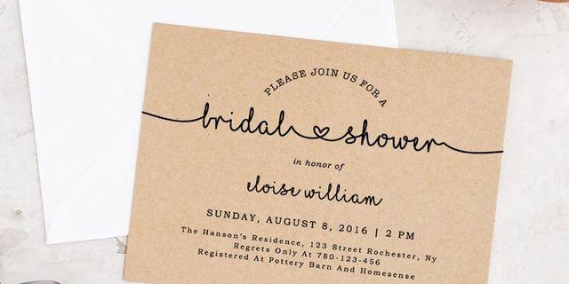 20 Diy Bridal Shower Invitations Best Bridal Shower Invitations
