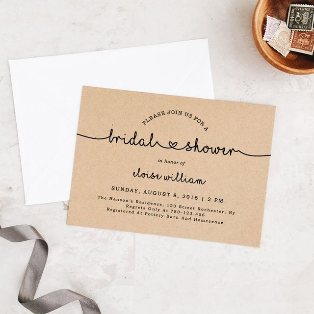 Asking For Gifts On Wedding Invitations: 20 DIY Bridal Shower Invitations
