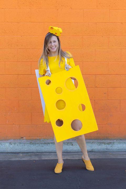 diy cheese costume food halloween costumes