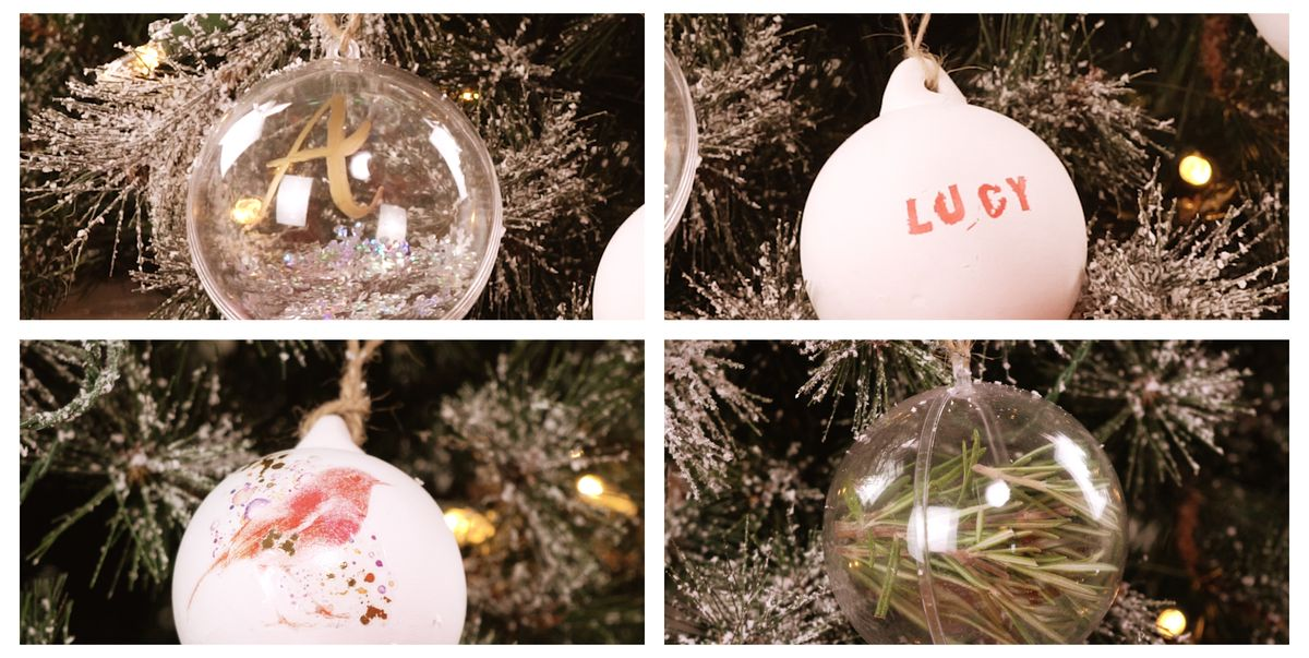 4 Easy Ways To Make Your Own Christmas Baubles Video