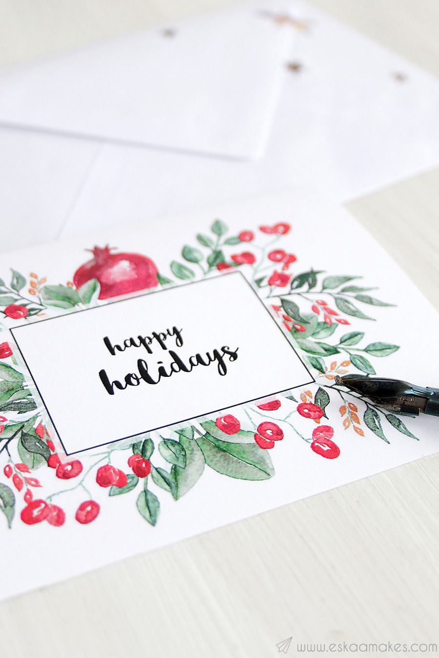 photograph about Free Printable Sentiments for Handmade Cards identified as 30 Do-it-yourself Xmas Card Designs - Amusing Xmas Playing cards Ended up