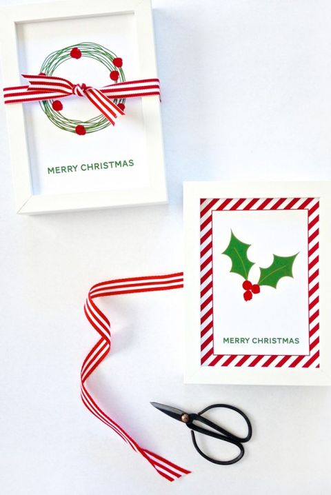 DIY Christmas Cards Ideas - Fingerprint Holly Berries