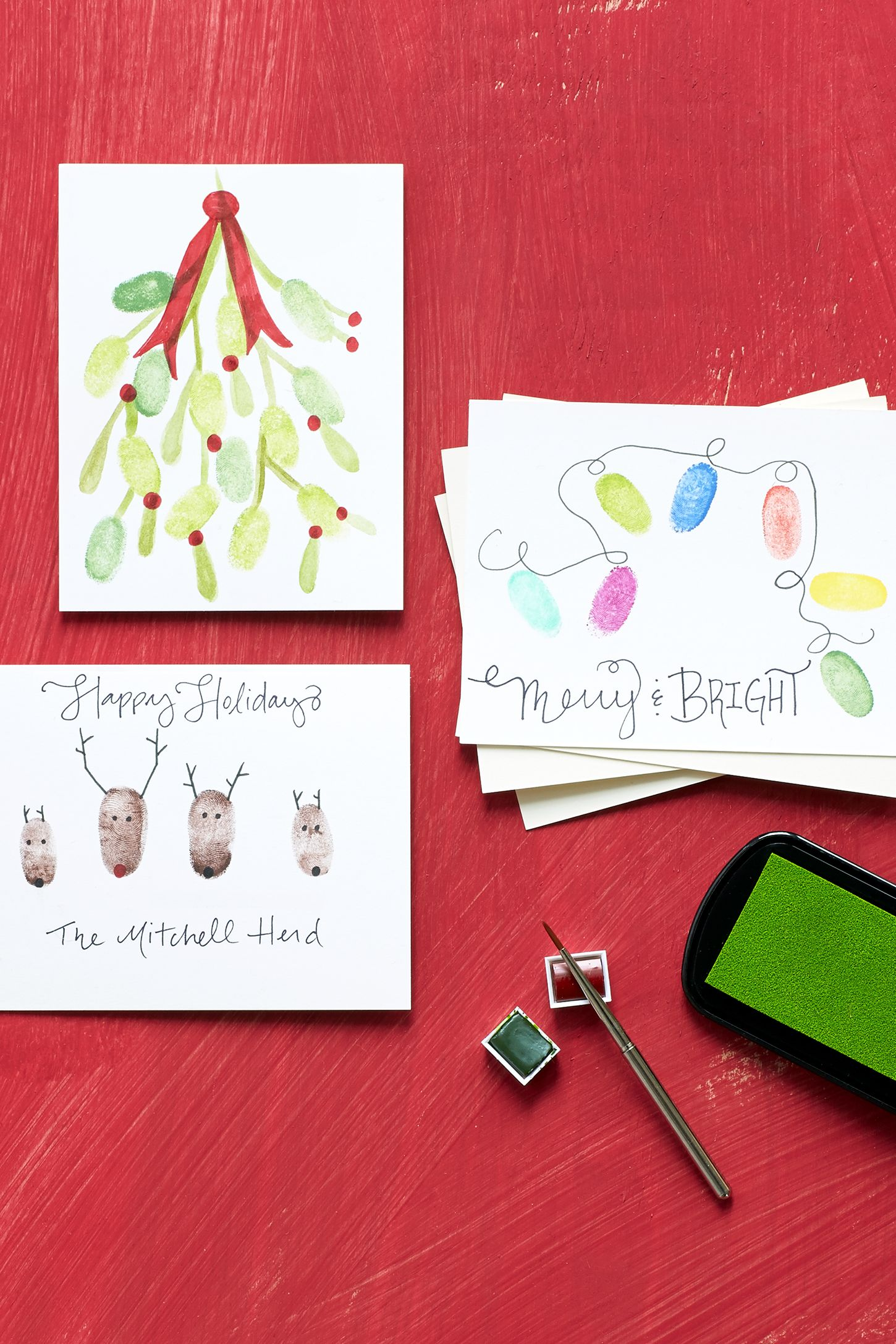 17 Diy Christmas Card Ideas Easy Homemade Christmas Cards Were