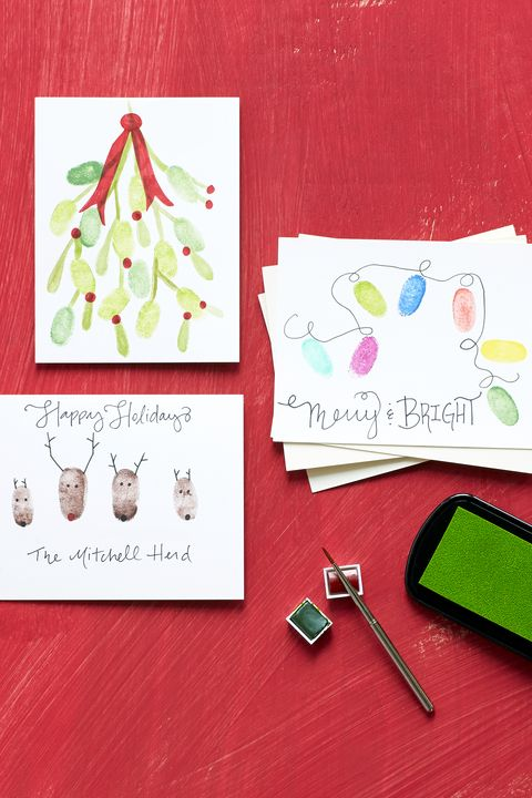 17 diy christmas card ideas easy homemade christmas cards were diy christmas thumbprint card ideas m4hsunfo