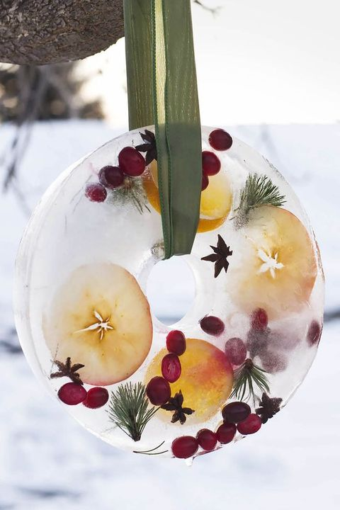diy christmas crafts ice wreath