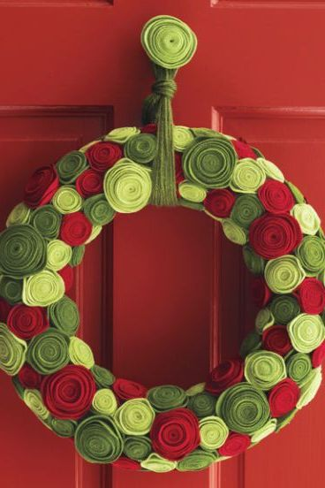 christmas diy decor rose wreath
