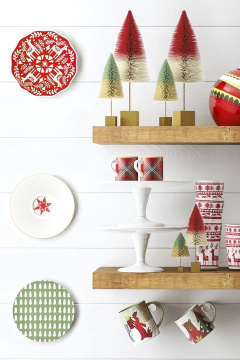 diy christmas decorations ceramic plates