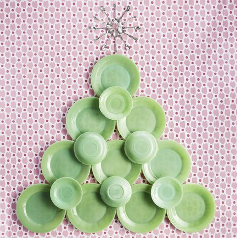 diy christmas decorations jadeite plates