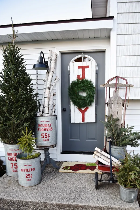 diy christmas door decorations joy sign