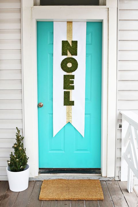 diy christmas door decorations noel banner
