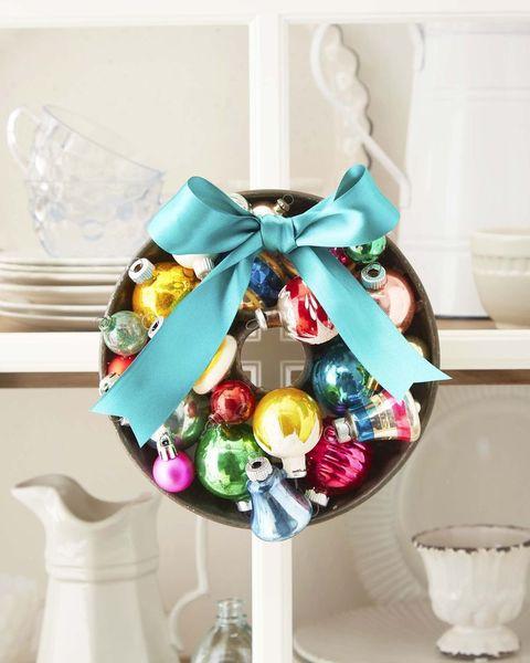 shiny brite bundt pan wreath