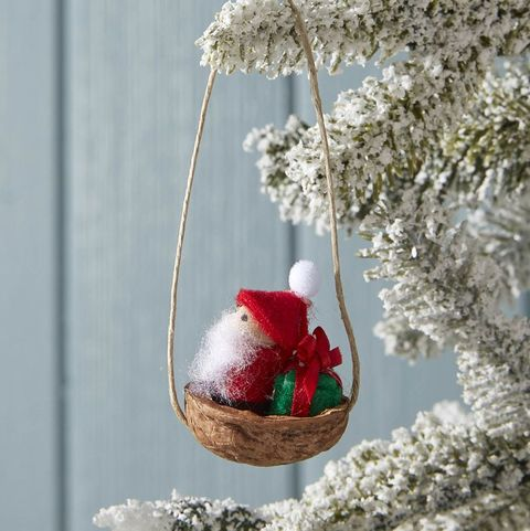 mini felt santa christmas ornament