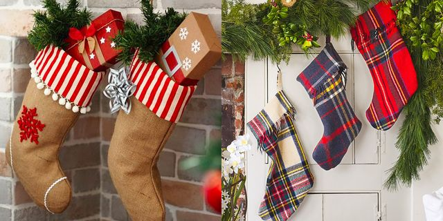 d1ca24625c7 23 DIY Christmas Stockings - How to Make Christmas Stockings Craft Ideas -  Woman s Day