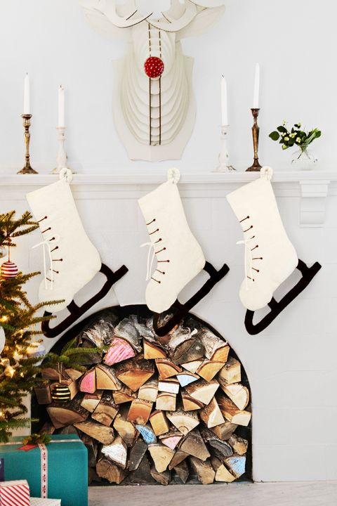diy christmas stockings ice skate stocking