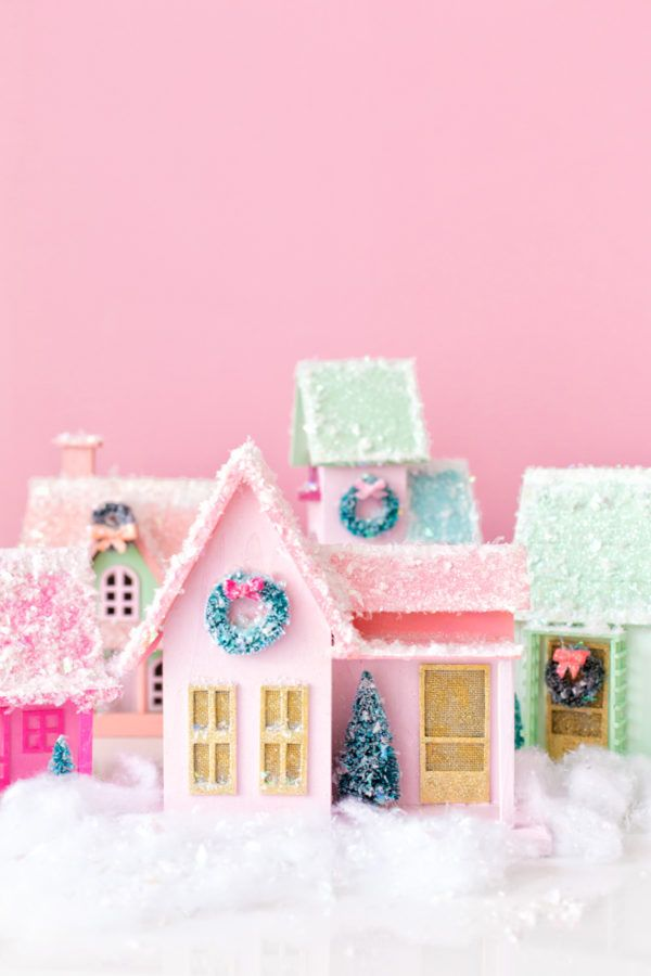 diy christmas village craft