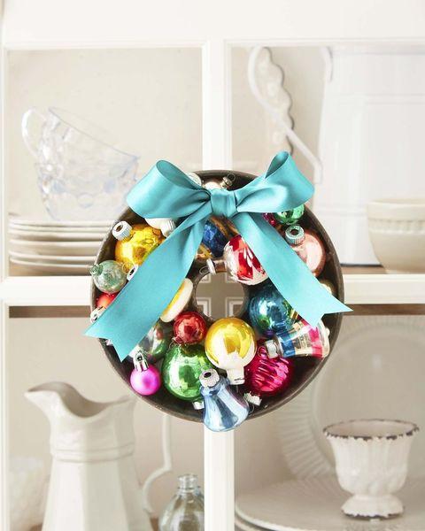 shiny brite christmas wreath bundt pan