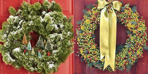 diy christmas wreaths - How To Decorate Artificial Christmas Wreath