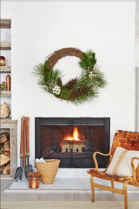diy organic modern pine cone christmas wreaths