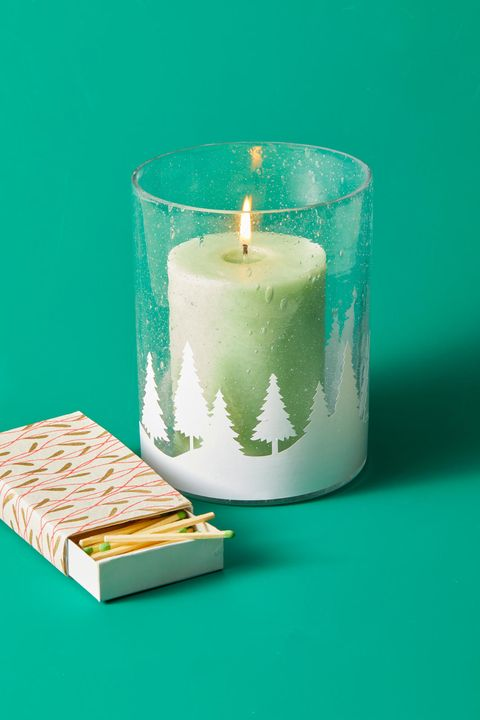DIY Christmas Gifts - Christmas Cutout Candle