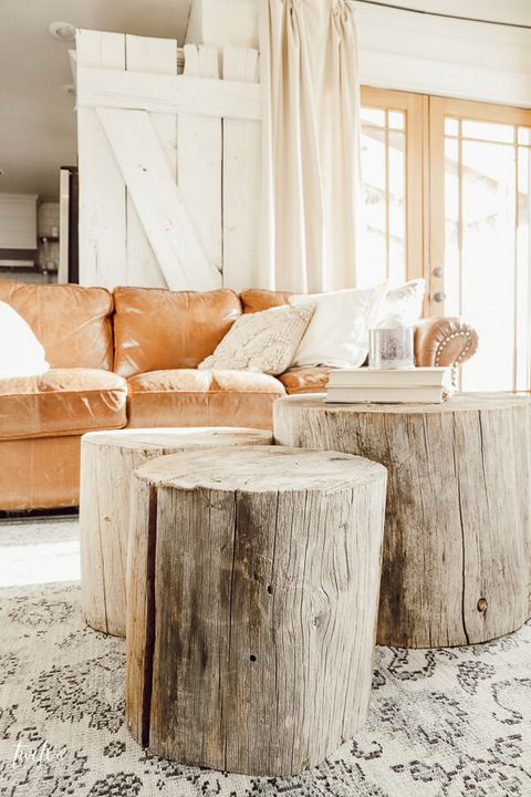 diy coffee table stump