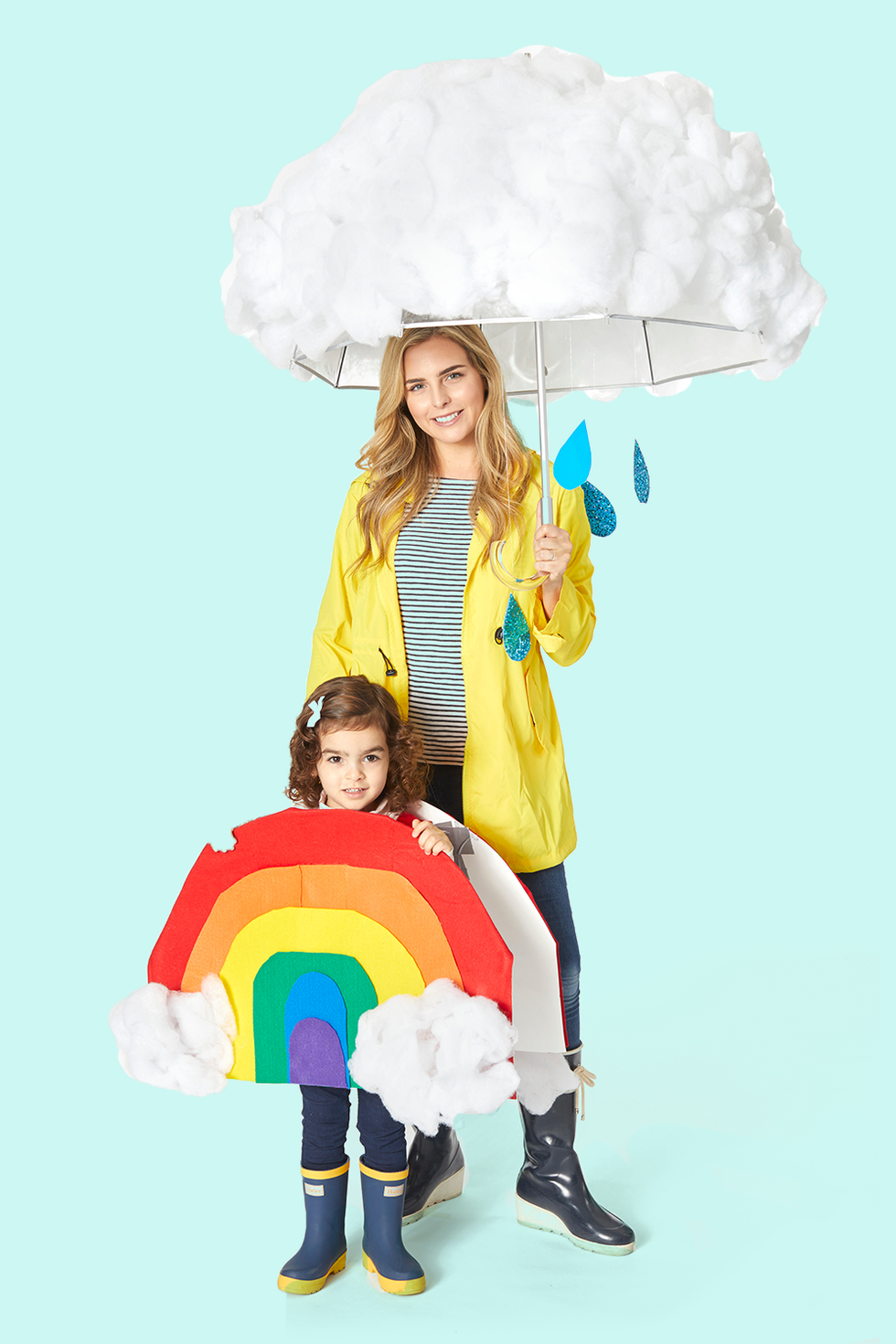 Cloud and Rainbow DIY Halloween Costume