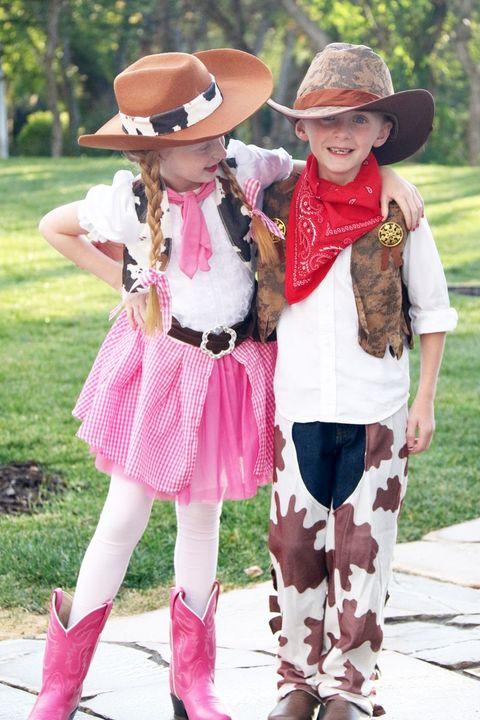 diy cowboy cowgirl costumes