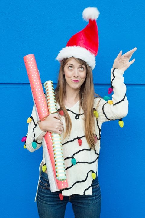 Ugly Christmas Sweater Ideas 2021 36 Ugly Christmas Sweaters To Buy Or Diy Homemade Ugly Christmas Sweaters