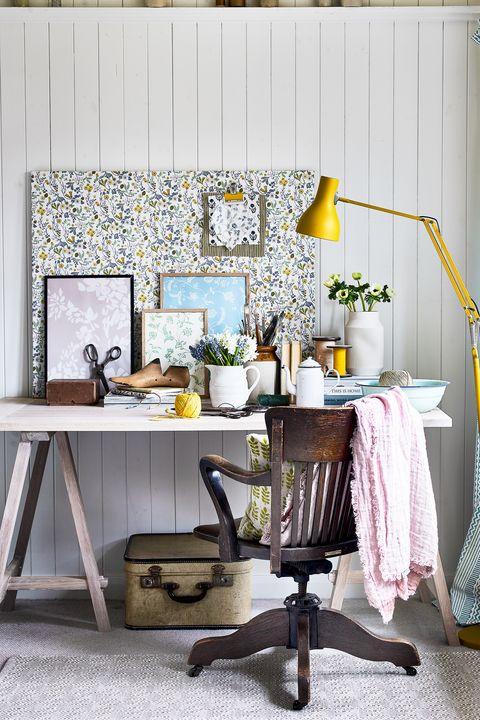 diy desk in home office