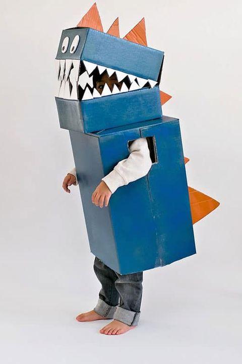 diy dinosaur costume   full box